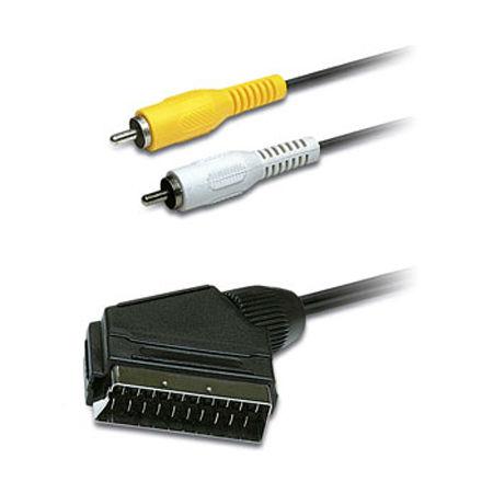 CABLU SCART TATA – 2X RCA TATA 1.5M HEADER ED | wauu.ro