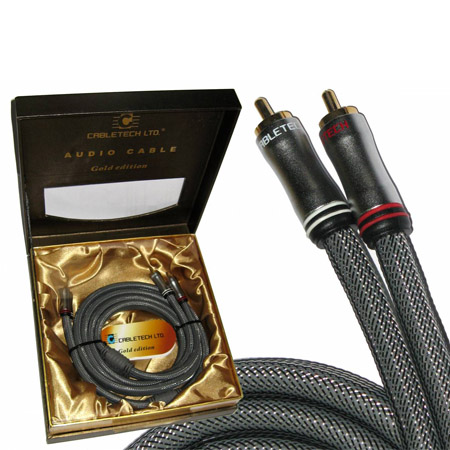 CABLU 2RCA-2RCA 1.8M AUDIO GOLD EDITION | wauu.ro