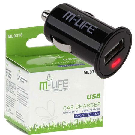 INCARCATOR AUTO M-LIFE SLOT USB 1000MA | wauu.ro