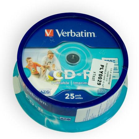 CD-R VERBATIM 700MB 52X PRINTABIL CAKE 25 | wauu.ro
