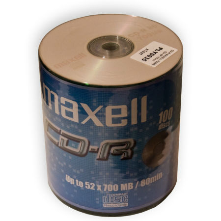 CD-R MAXELL 700MB 52X SPINDLE 100 | wauu.ro