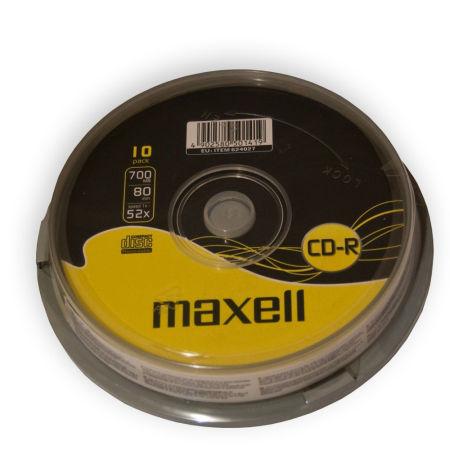 CD-R MAXELL 700MB 52X CAKE 10 | wauu.ro
