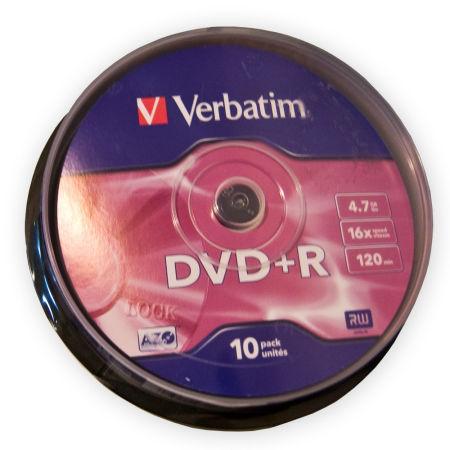 DVD+R VERBATIM 4,7GB 16X CAKE-10BUC | wauu.ro