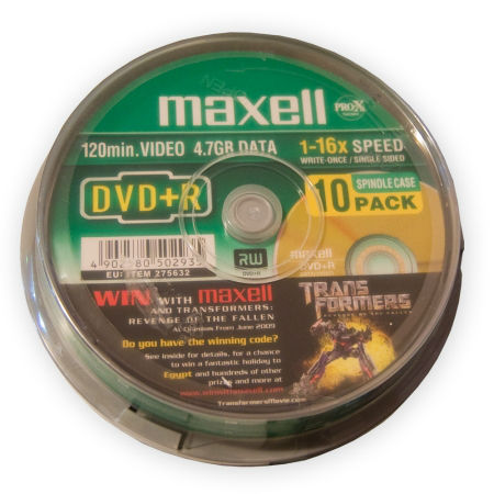 DVD+R 4.7GB MAXELL CAKE 10BUC | wauu.ro
