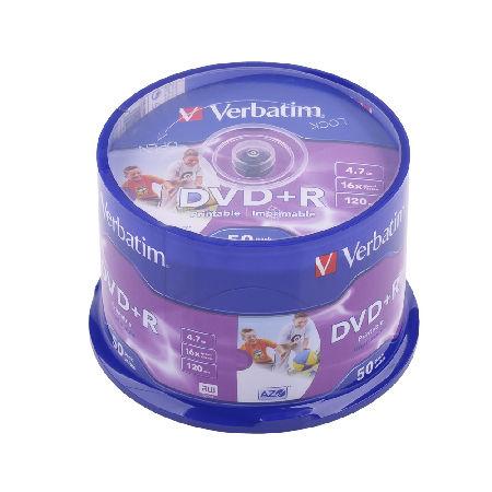 DVD+R VERBATIM 4,7 GB 16X PRINT. AZO FULL CAK | wauu.ro