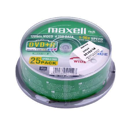 DVD+R MAXELL 4,7GB 16X PRINT. FF CAKE 25BUC. | wauu.ro