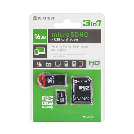 MICROSD CARD 16GB CLS 10 + ADAPTOR + CITITOR | wauu.ro
