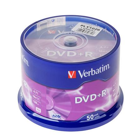 DVD+R X16 VERBATIM 4,7GB SET 50BUC | wauu.ro