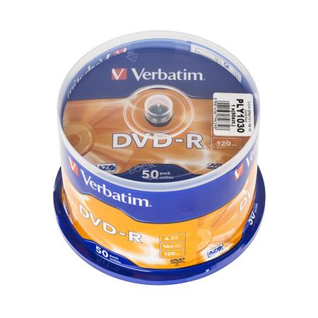 DVD-R VERBATIM 4,7GB 16X SET-50BUC | wauu.ro