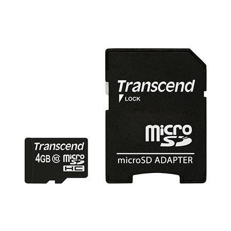 MICRO SD CARD 4GB CU ADAPTOR CLASS 10 TRANSCE | wauu.ro