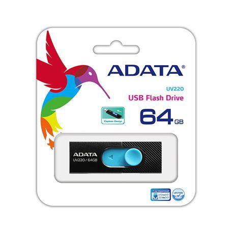 FLASH DRIVE USB 2.0 64GB UV220 ADATA | wauu.ro