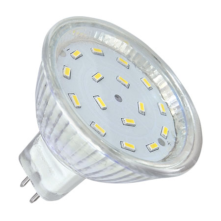 BEC LED 16 SMD 3014 MR16 12V 3000K 5W | wauu.ro