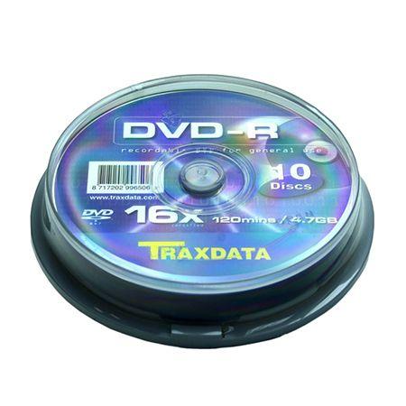 DVD-R TRAXDATA 4,7GB 16X CAKE 10BUC | wauu.ro