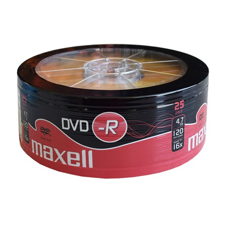 DVD-R 4.7GB 16X SET 25 BUC MAXELL | wauu.ro